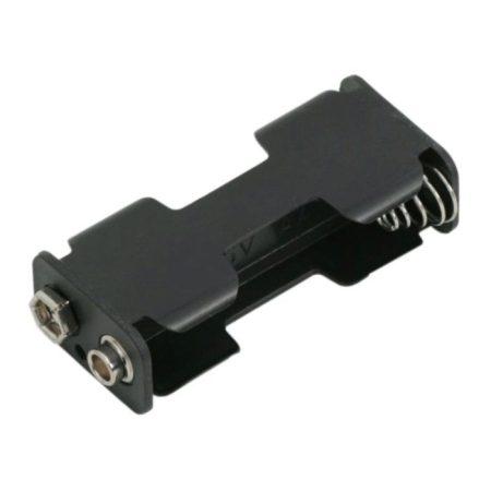 Elemtartó AA elem 2db 9V csatlakozóval
