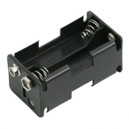 Elemtartó AA elem 4db 9V csatlakozóval