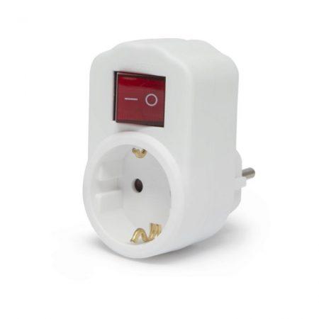 Fali dugalj konnektor kapcsolós