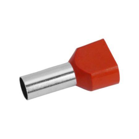 Érvéghüvely 2 x 10 mm2-es vezetékekhez