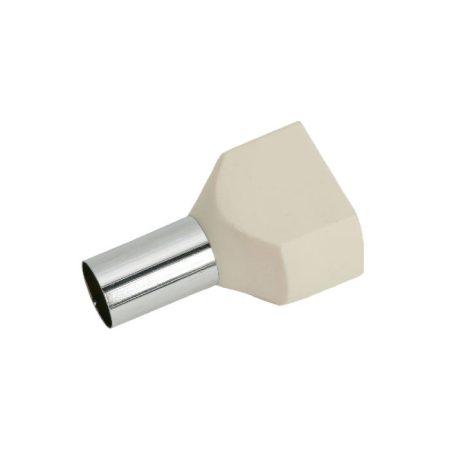 Érvéghüvely 2 x 16 mm2-es vezetékekhez