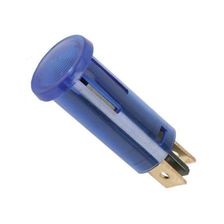 Jelző izzó kék 220V