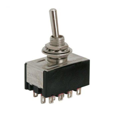 Karos kapcsoló 250V 3A 4 áramkör