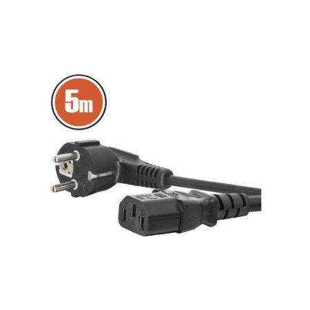 Hálózati tápkábel 5,0 m IEC C13 aljzat
