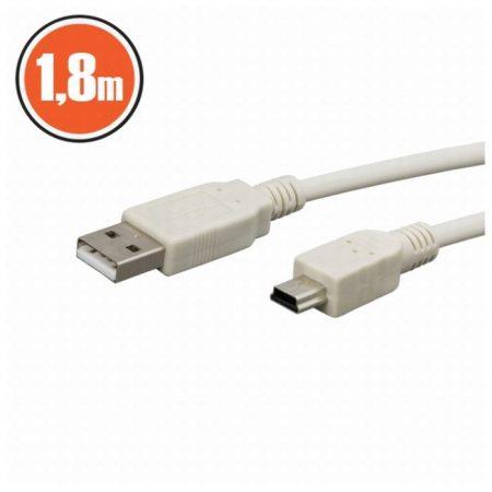 USB kábel 2.0 A dugó – B mini dugó 1,8 m