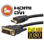 DVI-D / HDMI kábel • 5 m