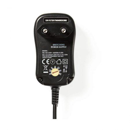 Univerzális hálózati adapter | 3/4,5/5/6/7,5/9/12 VDC | 1.0 A