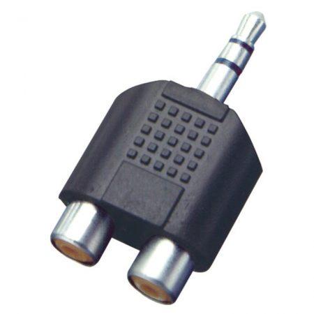 Jack-RCA átalakító, 3,5mm sztereó dugó-2xRCA alj