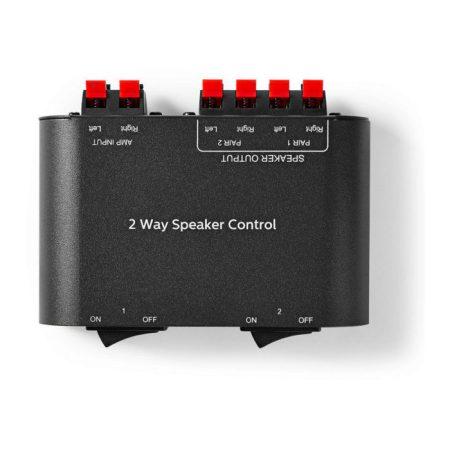 Hangsugárzó-vezérlődoboz | 2 irányú | Kábelkapocs | Fekete