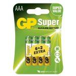 GP SUPER ALKÁLI ELEM LR03 (AAA) 8DB/BLISZTER