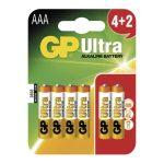 GP ULTRA ALKÁLI ELEM AAA 6DB/BLISZTER