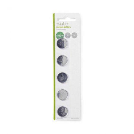 Lítium Gombcella Telep CR2016 | 3 V | 5 darab | Buborékfólia
