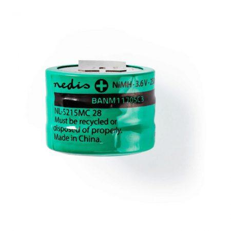 Nikkel-fémhidrid akkumulátor | 3,6 V | 170 mAh | Forrasztható csatlakozók