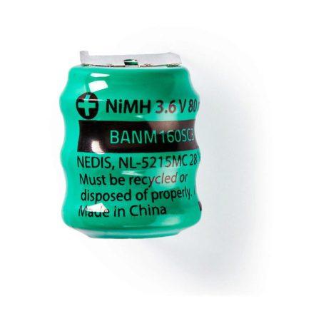 Nikkel-fémhidrid akkumulátor | 3,6 V | 80 mAh | Forrasztható csatlakozók