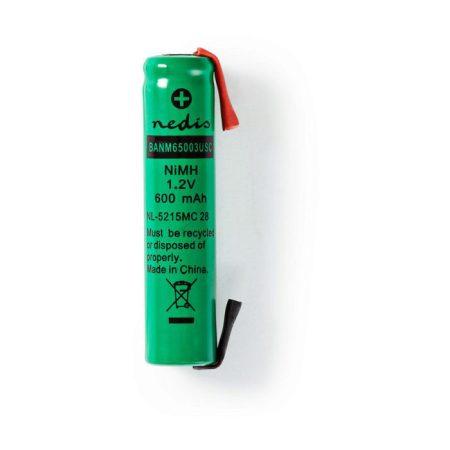 Nikkel-fémhidrid akkumulátor | 1,2 V | 600 mAh | AAA | Forrasztható csatlakozók