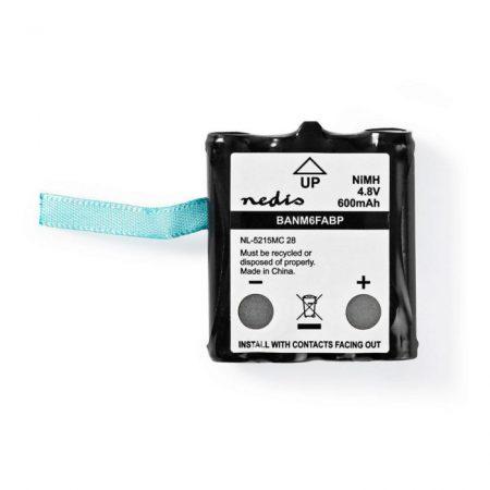 Nikkel-fémhidrid akkumulátor | 4,8 V | 600 mAh