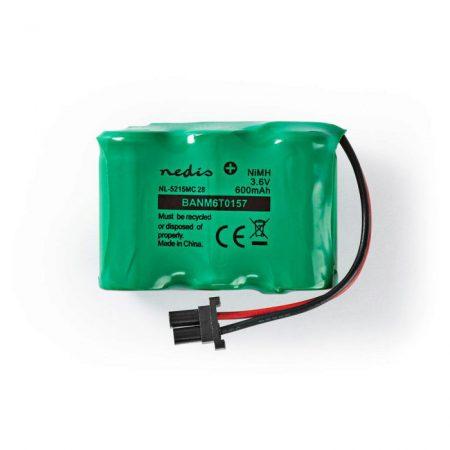 Nikkel-fémhidrid akkumulátor   3,6 V   600 mAh   Vezetékes csatlakozók
