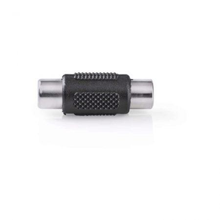 Monó audió adapter | RCA Aljzat - RCA Aljzat | Fekete