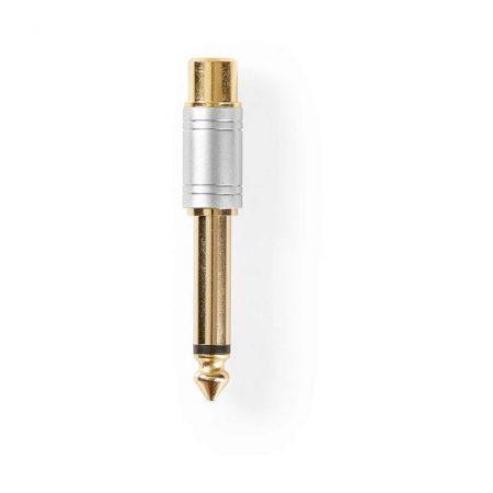Audioadapter | 6,35 mm Apa–RCA Anya | Fém | Ezüst