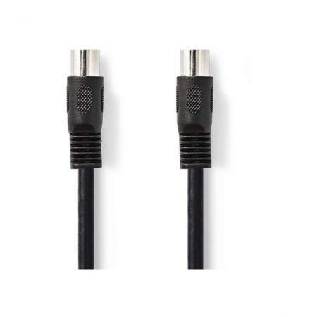DIN-es audiokábel | DIN 5 tűs Dugasz - DIN 5 tűs Dugasz | 2,0 m | Fekete