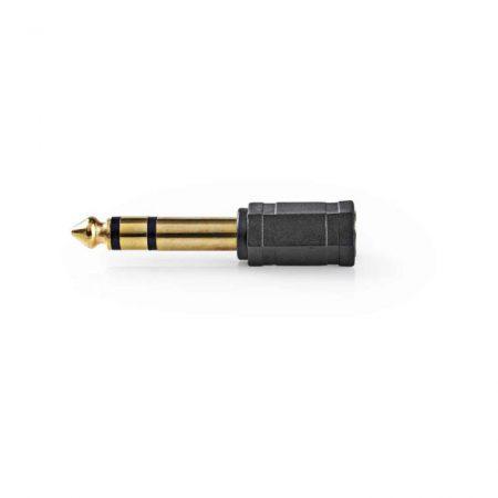 Sztereó audió adapter | 6,35 mm-es Dugasz - 3,5 mm-es Aljzat | 10 darabos | Fekete