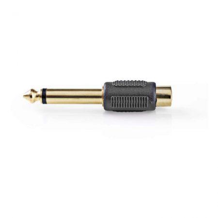 Monó audió adapter | 6,35 mm-es Dugasz - RCA-aljzat | 10 darabos | Fekete