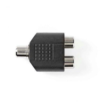 Mélynyomó-adapter | RCA-aljzat - 2 db RCA-aljzat | 10 darabos | Fekete