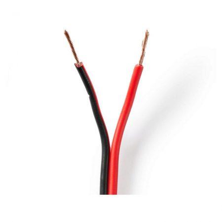 Hangszórókábel | 2x 0,75 mm2 | 100 m | Kötegelő | Fekete/Piros