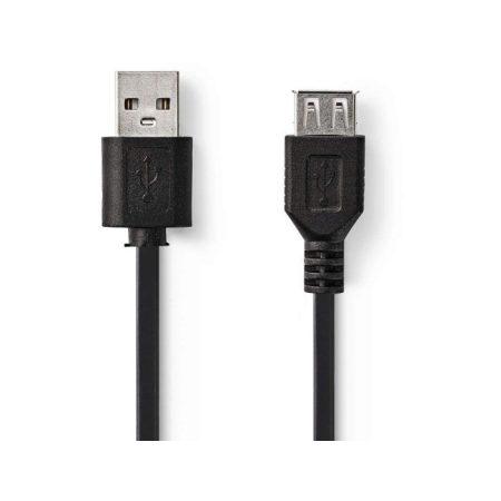 USB 2.0 kábel   A Dugasz - A Aljzat   2,0 m   Fekete