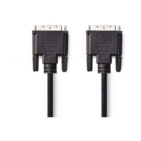 DVI Kábel | DVI-D 24+1 pólusú dugasz - DVI-D 24+1 pólusú dugasz | 10 m | Fekete
