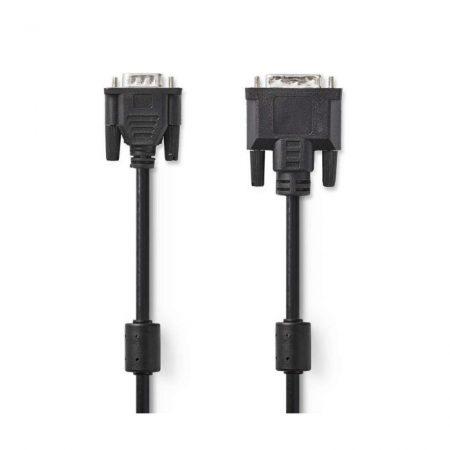 DVI Kábel | DVI-A 12+5 Pólusú Dugasz - VGA-dugasz | 2,0 m | Fekete