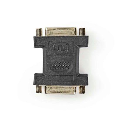 DVI-adapter | DVI-I 24+5 Tűs Aljzat | DVI-I 24+5 Tűs Aljzat | Fekete