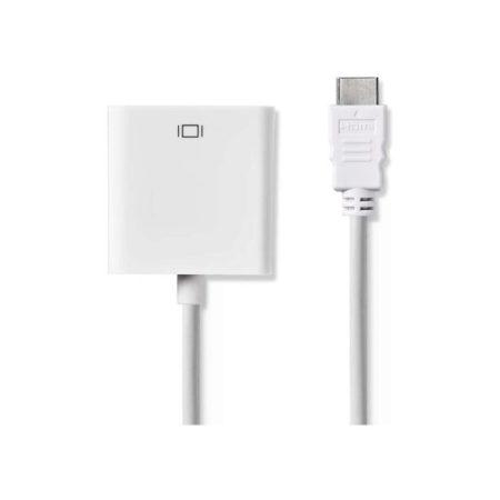 HDMI™ – VGA Kábel | HDMI™ Csatlakozó - VGA Aljzat + 3,5 mm-es kimenet | 0,2 m | Fehér