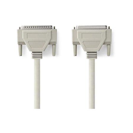 RS232 Kábel | D-Sub 25 tűs Dugasz - D-Sub 25 tűs Aljzat | 2,0 m | Elefántcsont