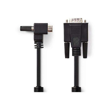 VGA kábel | VGA-dugasz - VGA Hajlított Dugasz | 2,0 m | Fekete