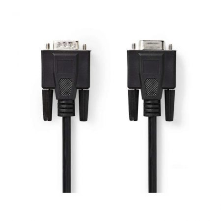 VGA kábel | VGA-dugasz - VGA-aljzat | 10 m | Fekete