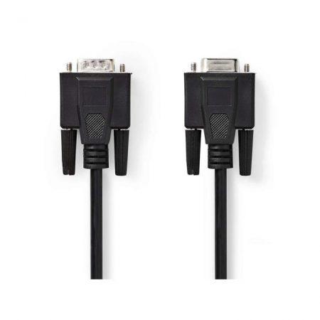VGA kábel | VGA-dugasz - VGA-aljzat | 5,0 m | Fekete