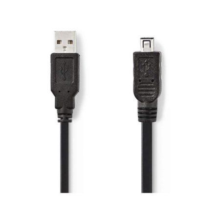 USB 2.0 kábel | A Dugasz - Hirose Mini 4 tűs Dugasz | 2,0 m | Fekete