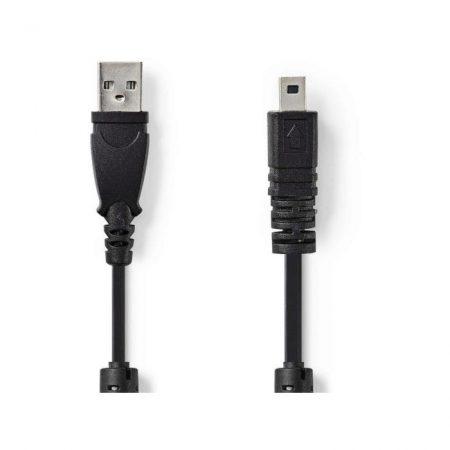 Kamera Adatkábel | USB A Dugasz - UC-E6 8 tűs Dugasz | 2,0 m | Fekete
