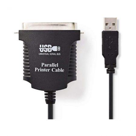 USB Nyomtatókábel | USB A Dugasz - Centronics 36 tűs Dugasz | 2,0 m | Fekete