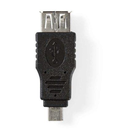 USB 2.0 Adapter | Mikro B Dugasz - A Aljzat | Fekete