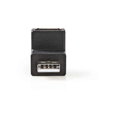 USB 2.0 Adapter   A Dugasz - A Aljzat   270°-ban Hajlított   Fekete