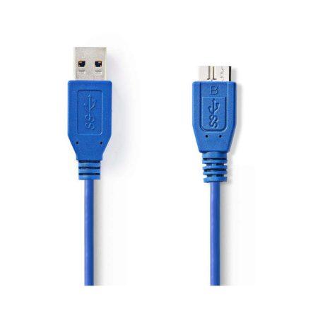 USB 3.0 kábel | A Dugasz - Mikro B Dugasz | 0,5 m | Kék
