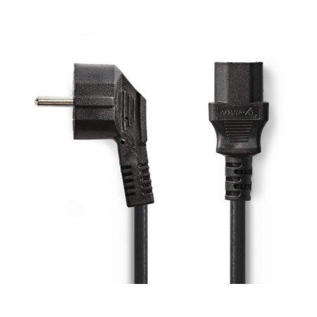 Tápkábel | Schuko Hajlított Dugasz - IEC-320-C13 | 5,0 m | Fekete