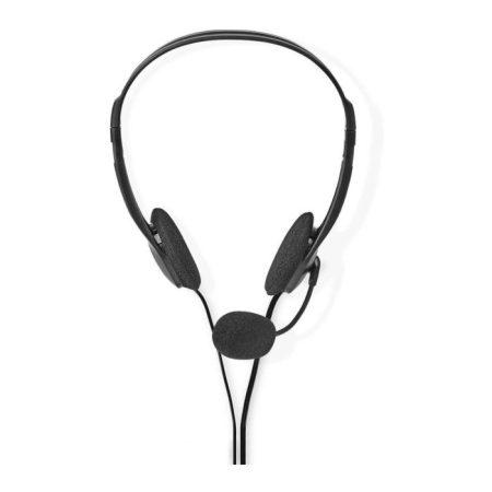 PC headset | Fülre Illeszthető | 2 db 3,5 mm-es Csatlakozó | 2,0 m | Fekete