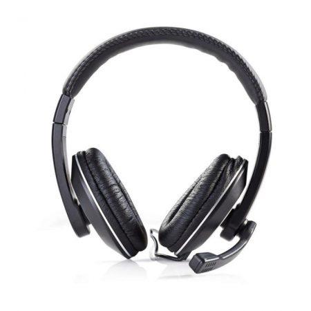 PC headset | Teljes fület befedő kialakítás | Mikrofon | Dupla 3,5 mm-es Csatlakozó