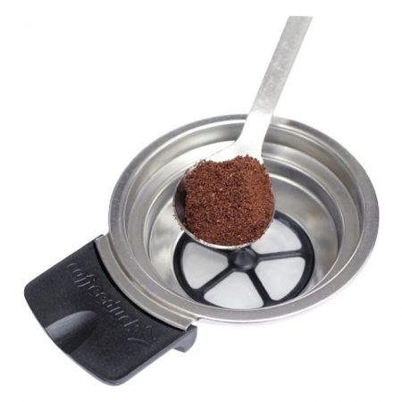 Kávétartó Senseo Kávégépekhez Ezüst/Fekete