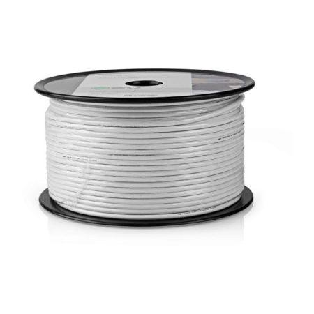 Koax Kábel | Mini Koax | 100 m | Kábeldob | Fehér