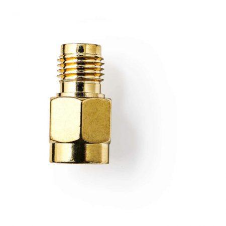 SMA-adapter | SMA-aljzat (Fordított Polaritású) - SMA-dugasz | 2 darabos | Arany