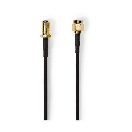 Antennakábel | SMA-dugasz (Fordított Polaritású) - SMA-aljzat (Fordított Polaritású) | 5,0 m | Fekete